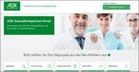 Internetportal der AOK für Beschäftigte im Gesundheitswesen inhaltlich und optisch runderneuert