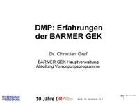DMP: Erfahrungen der BARMER GEK