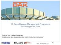 DMP: Erfahrungen der DAK