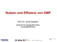 Nutzen und Effizienz von DMP